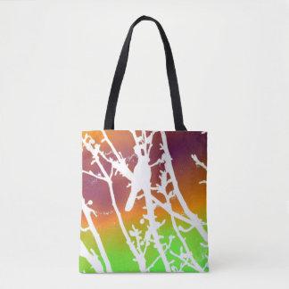 Vogel abstrakt - Mehrfarben Tasche