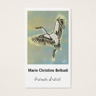 Vogel danken Ihnen, - künstlerische Visitenkarte