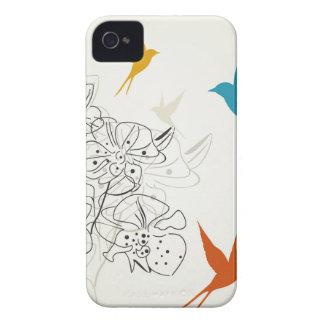 Vögel ein flower2 iPhone 4 Case-Mate hüllen