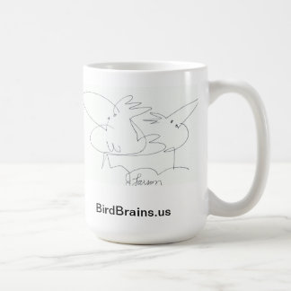 Vogel-Gehirn-Comic-ReihenTasse Kaffeetasse