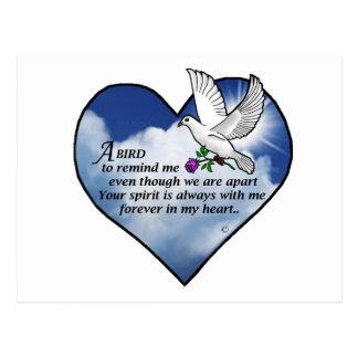 Vogel-Herz-Gedicht Postkarte