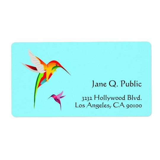 Vogel-Liebhaber-Kolibris Versandetiketten