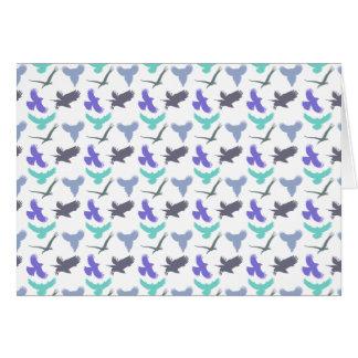 Vogel-Muster-Gruß-Karte Karte