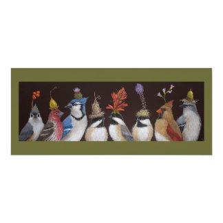 Vogel-Party auf flacher Karte #10 10,2 X 23,5 Cm Einladungskarte