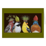 Vogel-Party mit mürrischer Drosselkarte Grußkarte