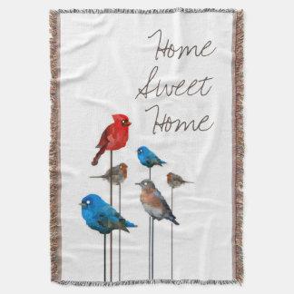 """Vogel-Party-""""Zuhause-süßes Zuhause"""" Throw-Decke Decke"""