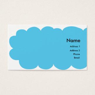 Vogel sagt Ihren Namen Visitenkarte