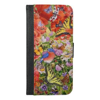 Vögel, Schmetterlinge iPhone 6/6S plus iPhone 6/6s Plus Geldbeutel Hülle