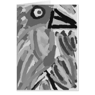 Vogel-schwarzer Geburtstag Karte