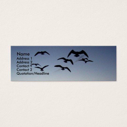 Vogel-Silhouette Visitenkarte