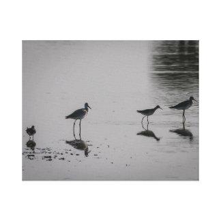 Vogel-Strand-Silhouette auf Leinwand