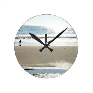 Vögel, Sun und Damm-Uhr Runde Wanduhr