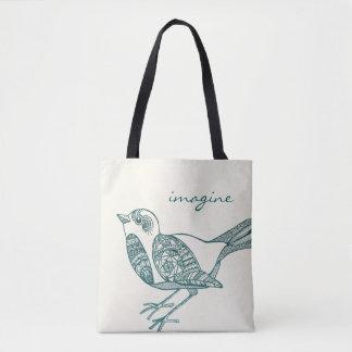 Vogel-Tasche in aquamarinem Tasche