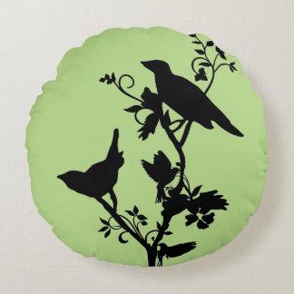 Vogel-Themed Wohngestaltung Rundes Kissen
