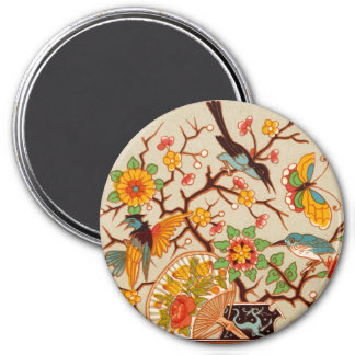 Vögel u. Schmetterlings-Magnet Runder Magnet 7,6 Cm