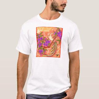 Vogel und Blumen T-Shirt