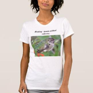 Vogelbeobachtung tweetet ohne Kalorien T-Shirt