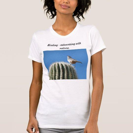 Vogelbeobachtungvernetzungsnatur T-Shirt