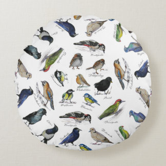 Vogelgarten Rundes Kissen