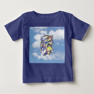 Vogelleben in den Wolken Baby T-shirt