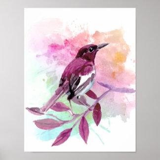 Vogelplakat - Natur-Wohngestaltung Poster