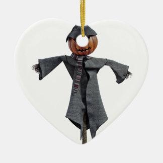 Vogelscheuche des Jack-O Keramik Ornament