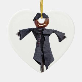 Vogelscheuche des Jack-O mit hellen Augen Keramik Ornament