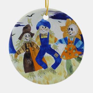 Vogelscheuche-Tanzen Keramik Ornament