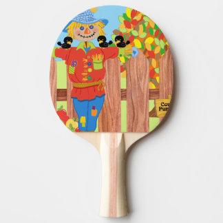 Vogelscheuchezaunszene I Tischtennis Schläger