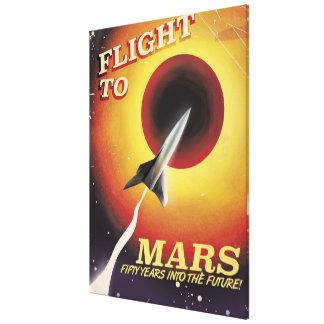 Vol à Mars ! affiche vintage de la science fiction Toiles