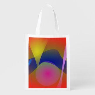 Volcan abstrait sacs d'épicerie