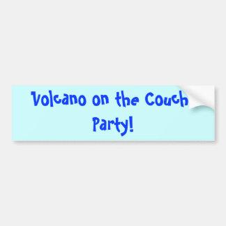 Volcan sur le divan, partie ! autocollant de voiture