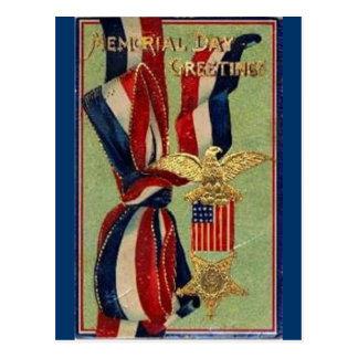 Volkstrauertag-Bänder Postkarte
