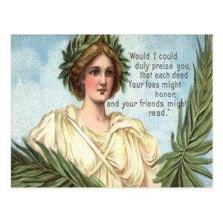 Volkstrauertag Damen-Liberty Wreath Postkarte