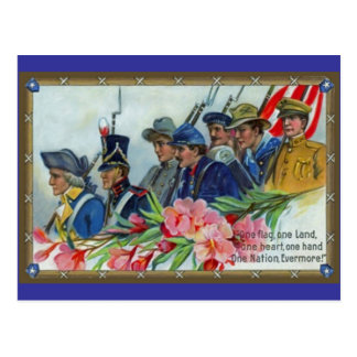 Volkstrauertag-Soldaten Postkarte