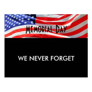 Volkstrauertag, vergessen wir nie, amerikanische postkarte