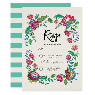 VolksuAwg-Antwortkarte Einladung der Blumen-  des