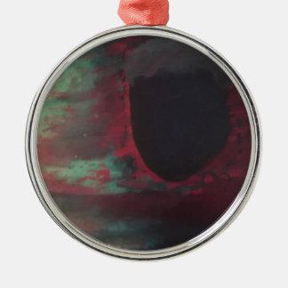 Voll von der Farbe in einer hellen Welt Rundes Silberfarbenes Ornament