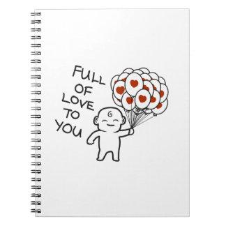 Voll von der Liebe zu Ihnen Foto-Notizbuch (80 Spiral Notizblock