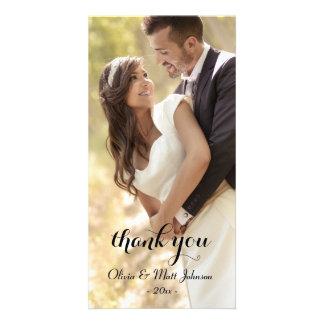 Volle Foto-Hochzeit danken Ihnen zu kardieren Bildkarten
