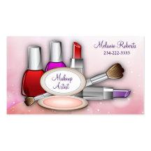 Vollenden-Touch-Rosa-Schein-Make-upkünstler Visitenkarten