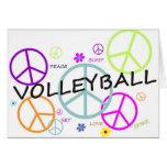 Volleyball farbige Friedenszeichen Grußkarte