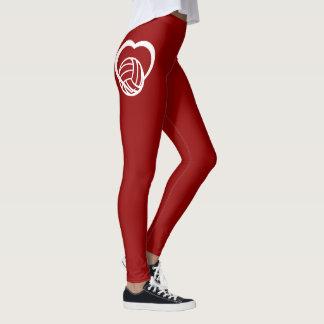 Volleyball-Herz Leggings