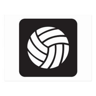 Volleyball-Ikone Postkarte