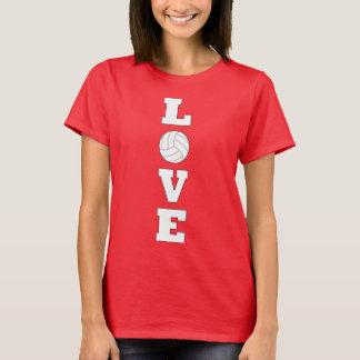 Volleyball LIEBE vertikaler grafischer T - Shirt