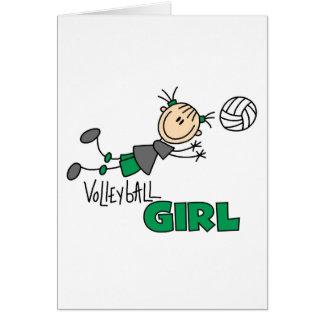 Volleyball-Mädchen Karte
