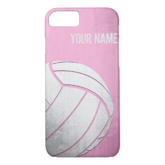 Volleyball mit Schmutzeffekt Rosa-Schatten iPhone 8/7 Hülle
