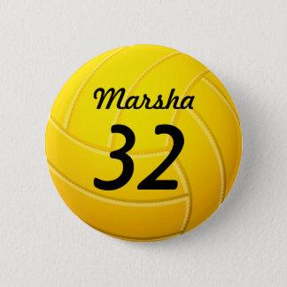 Volleyball Runder Button 5,7 Cm