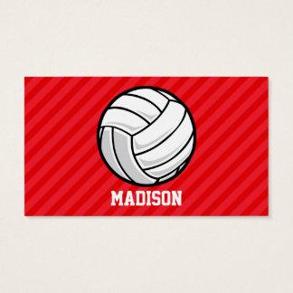 Volleyball; Scharlachrot Rot-Streifen- Visitenkarte
