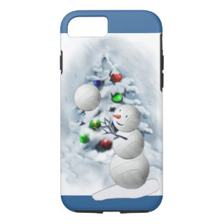 Volleyball-Schneemann-Weihnachten iPhone 7 Hülle
